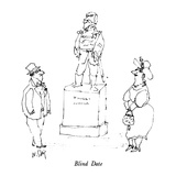 Blind Date - New Yorker Cartoon Regular Giclee Print by William Steig