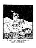 Gladys Took Her Highballs Very Seriously. - New Yorker Cartoon Premium Giclee Print by Glen Baxter