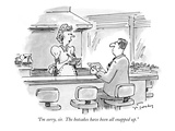 """I'm sorry, sir.  The hotcakes have been all snapped up."" - New Yorker Cartoon Premium Giclee Print by Mike Twohy"