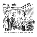 """Alfredo, this is my Stanley.  I've brought him in to be shorn."" - New Yorker Cartoon Premium Giclee Print by Ed Fisher"