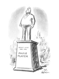 "Large statue of ""Major Player"". - New Yorker Cartoon Premium Giclee Print by Ed Fisher"