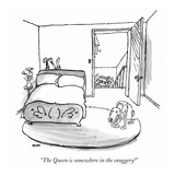 """The Queen is somewhere in the snuggery!"" - New Yorker Cartoon Premium Giclee Print by George Booth"