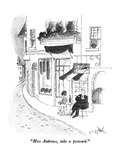"""Miss Andrews, take a postcard."" - New Yorker Cartoon Premium Giclee Print by W.B. Park"