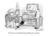 """You have an inordinately long shelf life, for a cupcake."" - New Yorker Cartoon Premium Giclee Print by Victoria Roberts"