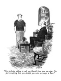 """I'm perfectly willing to call you Russell from now on, dear.  I'm just wo…"" - New Yorker Cartoon Premium Giclee Print by Charles Saxon"