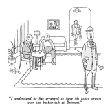 """I understand he has arranged to have his ashes strewn over the backstretc…"" - New Yorker Cartoon Premium Giclee Print by George Price"