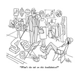 """What's the tab on this bouillabaisse"" - New Yorker Cartoon Premium Giclee Print by George Price"