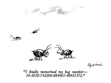 """I finally memorized my bug number –34-5018-742296-884901-48921372."" - New Yorker Cartoon Premium Giclee Print by Eldon Dedini"