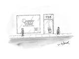 """Country Wide"" Bank has sign in it's window ""Fresh Cash"". - New Yorker Cartoon Giclee Print by W.B. Park"