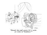 """Beneath that gruff exterior he's a sucker for reruns of 'Casablanca.' "" - New Yorker Cartoon Premium Giclee Print by Al Ross"