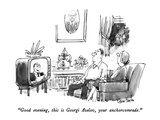 """Good evening, this is Georgi Avelov, your anchorcomrade."" - New Yorker Cartoon Premium Giclee Print by Dana Fradon"
