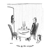 """You do like octopus"" - New Yorker Cartoon Premium Giclee Print by George Booth"