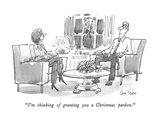 """I'm thinking of granting you a Christmas pardon."" - New Yorker Cartoon Premium Giclee Print by Dana Fradon"