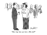 """How long have you been a Mets fan"" - New Yorker Cartoon Giclee Print by James Mulligan"