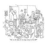 """Are we all ready for an energy survey by Con Ed"" - New Yorker Cartoon Premium Giclee Print by George Price"