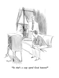 """So that's a soap opera!  Good heavens!"" - New Yorker Cartoon Premium Giclee Print by Charles Saxon"