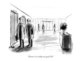 """Flowers in a lobby are good P.R."" - New Yorker Cartoon Premium Giclee Print by Warren Miller"