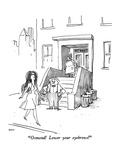 """Osmond!  Lower your eyebrows!"" - New Yorker Cartoon Premium Giclee Print by George Booth"