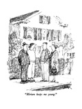"""Miriam keeps me young."" - New Yorker Cartoon Premium Giclee Print by Robert Weber"