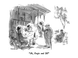 """Ah, Fergie and Di!"" - New Yorker Cartoon Premium Giclee Print by James Stevenson"