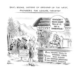 Dan'l Boone, Instead of Opening Up the West, Pioneers the Leisure Industry - New Yorker Cartoon Premium Giclee Print by Ed Fisher