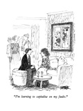 """I'm learning to capitalize on my faults."" - New Yorker Cartoon Premium Giclee Print by Robert Weber"