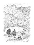 """From a man's point of view, do you think it's beautiful"" - New Yorker Cartoon Premium Giclee Print by Edward Koren"