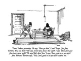 """I saw Yerkow yesterday.  He says, 'How ya doin', Leon'  I says, 'Just fi…"" - New Yorker Cartoon Premium Giclee Print by George Booth"