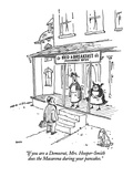 """If you are a Democrat, Mrs. Hooper-Smith does the Macarena during your pa…"" - New Yorker Cartoon Premium Giclee Print by George Booth"