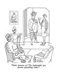 """Saints preserve us!  The boulevardier got another jaywalking ticket."" - New Yorker Cartoon Regular Giclee Print by George Price"