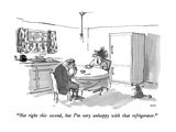 """Not right this second, but I'm very unhappy with that refrigerator."" - New Yorker Cartoon Premium Giclee Print by George Booth"