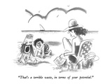 """That's a terrible waste, in terms of your potential."" - New Yorker Cartoon Premium Giclee Print by Donald Reilly"