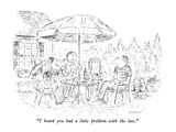 """I heard you had a little problem with the law."" - New Yorker Cartoon Premium Giclee Print by Edward Koren"