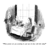 """What posture are you assuming in your pas de deux with life today"" - New Yorker Cartoon Regular Giclee Print by Stan Hunt"