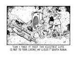 Can I Take It That The Electric Lute Is Not To Your Liking, My Liege' Quo… - New Yorker Cartoon Premium Giclee Print by Glen Baxter