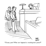 """Twenty years  What ever happened to revolving-door justice"" - New Yorker Cartoon Giclee Print by Joseph Farris"