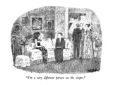 """I'm a very different person on the slopes."" - New Yorker Cartoon Premium Giclee Print by Robert Weber"
