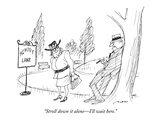 """Stroll down it alone—I'll wait here."" - New Yorker Cartoon Premium Giclee Print by Al Ross"