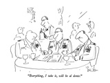 """Everything, I take it, will be al dente."" - New Yorker Cartoon Regular Giclee Print by Arnie Levin"