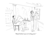 """Rudy Giuliani says we're doing great."" - New Yorker Cartoon Premium Giclee Print by Richard Cline"