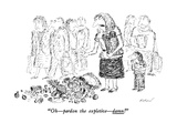 """Oh—pardon the expletive—damn!"" - New Yorker Cartoon Premium Giclee Print by Edward Koren"