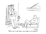"""Who was it said 'Laws were made to be broken'"" - New Yorker Cartoon Premium Giclee-trykk av Al Ross"