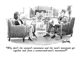 """Why don't the women's movement and the men's movement get together and fo…"" - New Yorker Cartoon Regular Giclee Print by Dana Fradon"