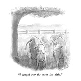 """I jumped over the moon last night."" - New Yorker Cartoon Regular Giclee Print by Stan Hunt"