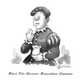 Marco Polo Discovers Monosodium Glutamate - New Yorker Cartoon Premium Giclee Print by Eldon Dedini
