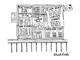 Bulletin board with various leaflets pinned up on it; they say 'The Summer… - New Yorker Cartoon Premium Giclee Print by Stuart Leeds