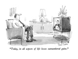 """Today, in all aspects of life losses outnumbered gains."" - New Yorker Cartoon Premium Giclee Print by Dana Fradon"