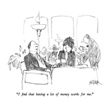 """""""I find that having a lot of money works for me."""" - New Yorker Cartoon Regular Giclee Print by Robert Weber"""