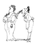 Servant dusting off elegant woman. - New Yorker Cartoon Premium Giclee Print by William Steig