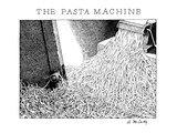 The Pasta Machine - New Yorker Cartoon Premium Giclee Print by Ann McCarthy
